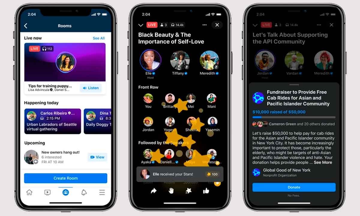 Live Audio Rooms: Facebook ya tiene su propio Clubhouse