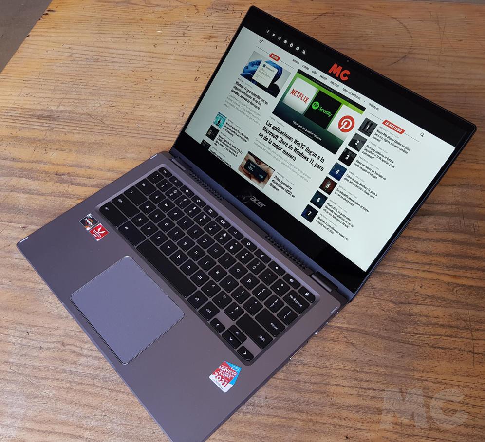 Analizamos el Chromebook Spin 514, el primero de Acer con Ryzen Mobile 45