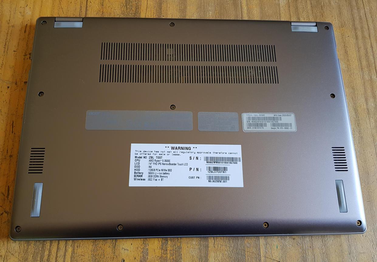 Analizamos el Chromebook Spin 514, el primero de Acer con Ryzen Mobile 41