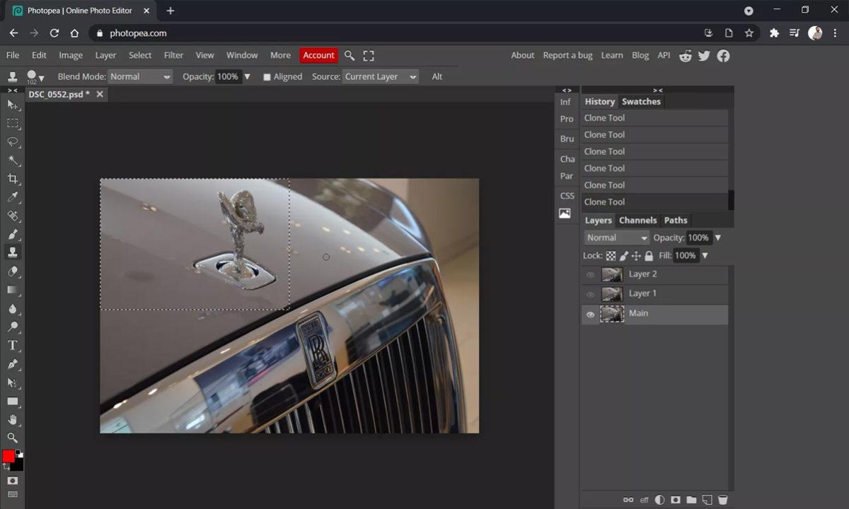 Alternativas Adobe Photoshop PhotoPea