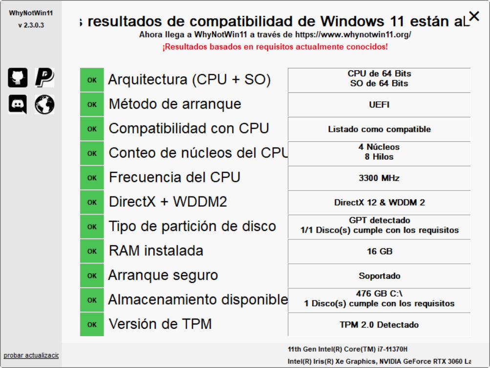 ejecutar Windows 11
