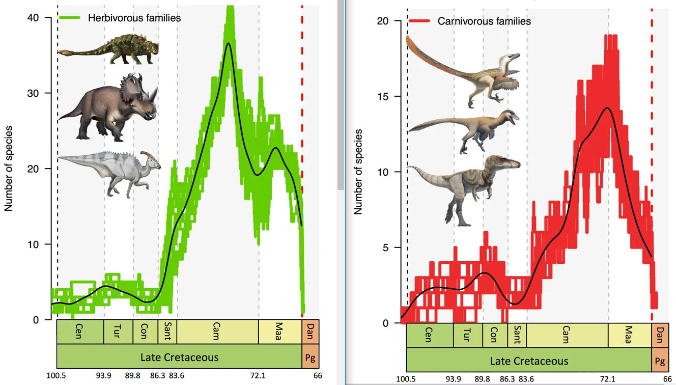 Dinosaurs were already in danger before an asteroid exterminated them 32