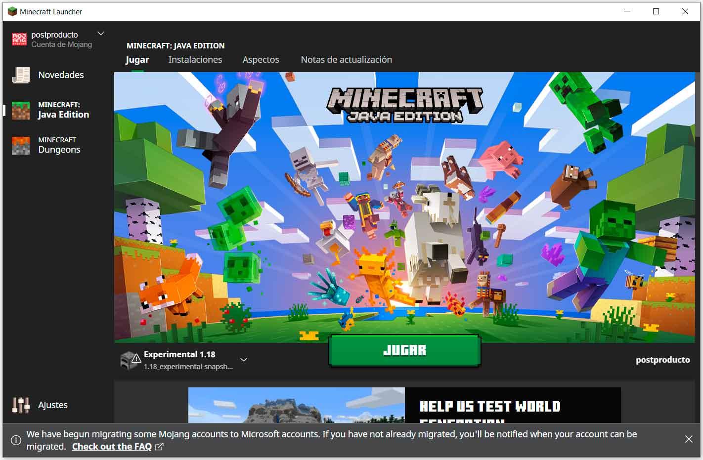 Minecraft 1.18: como probar la primera beta