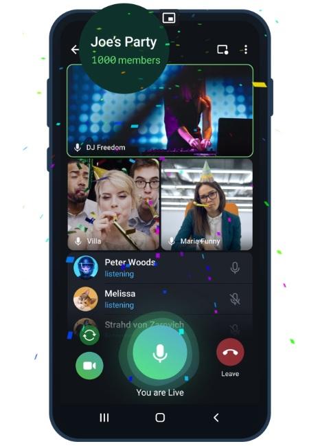 Telegram videollamadas grupales