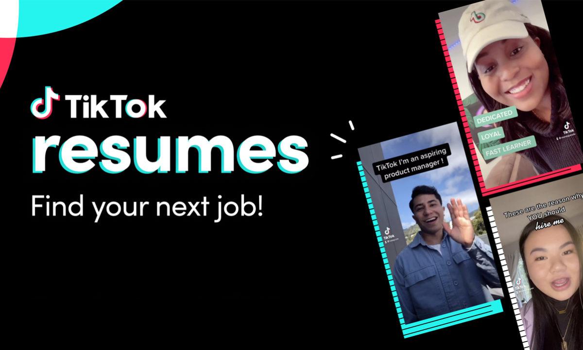 TikTok Resumes video curriculum