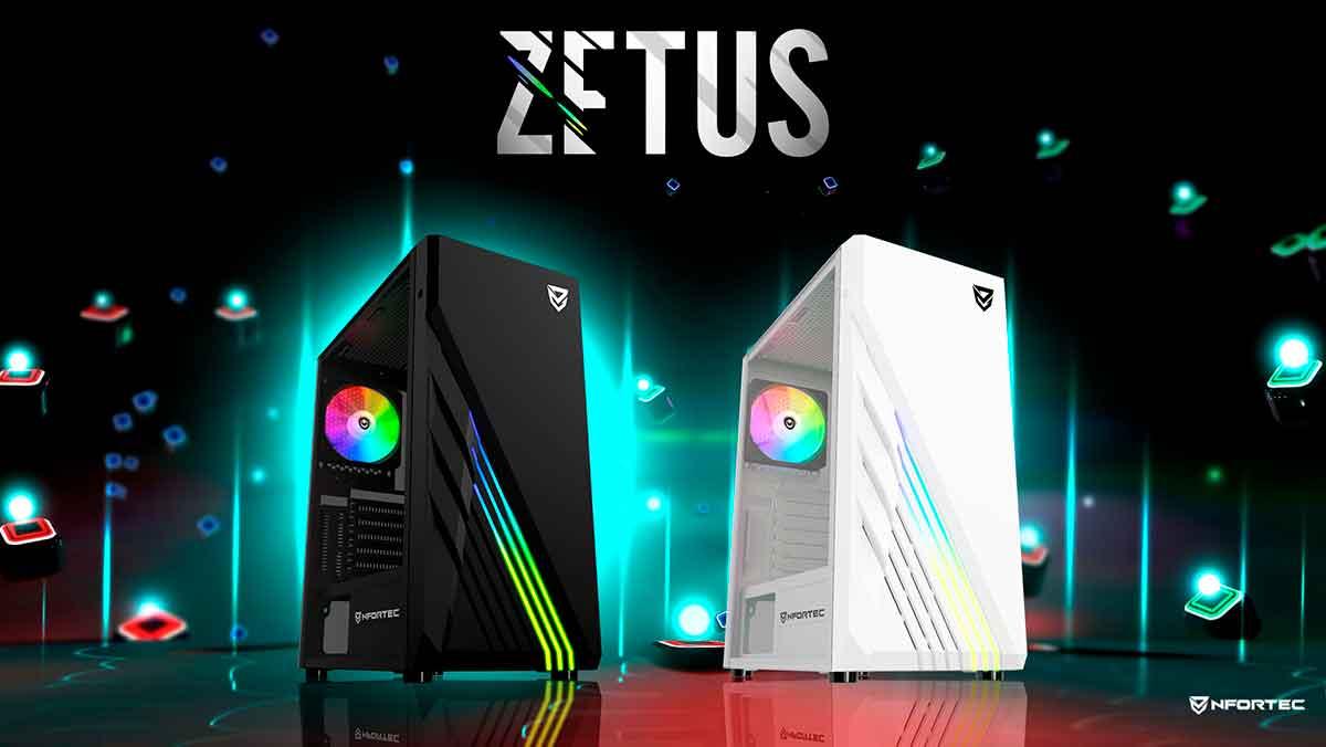 Nfortec Zetus: sobriedad con un toque de color