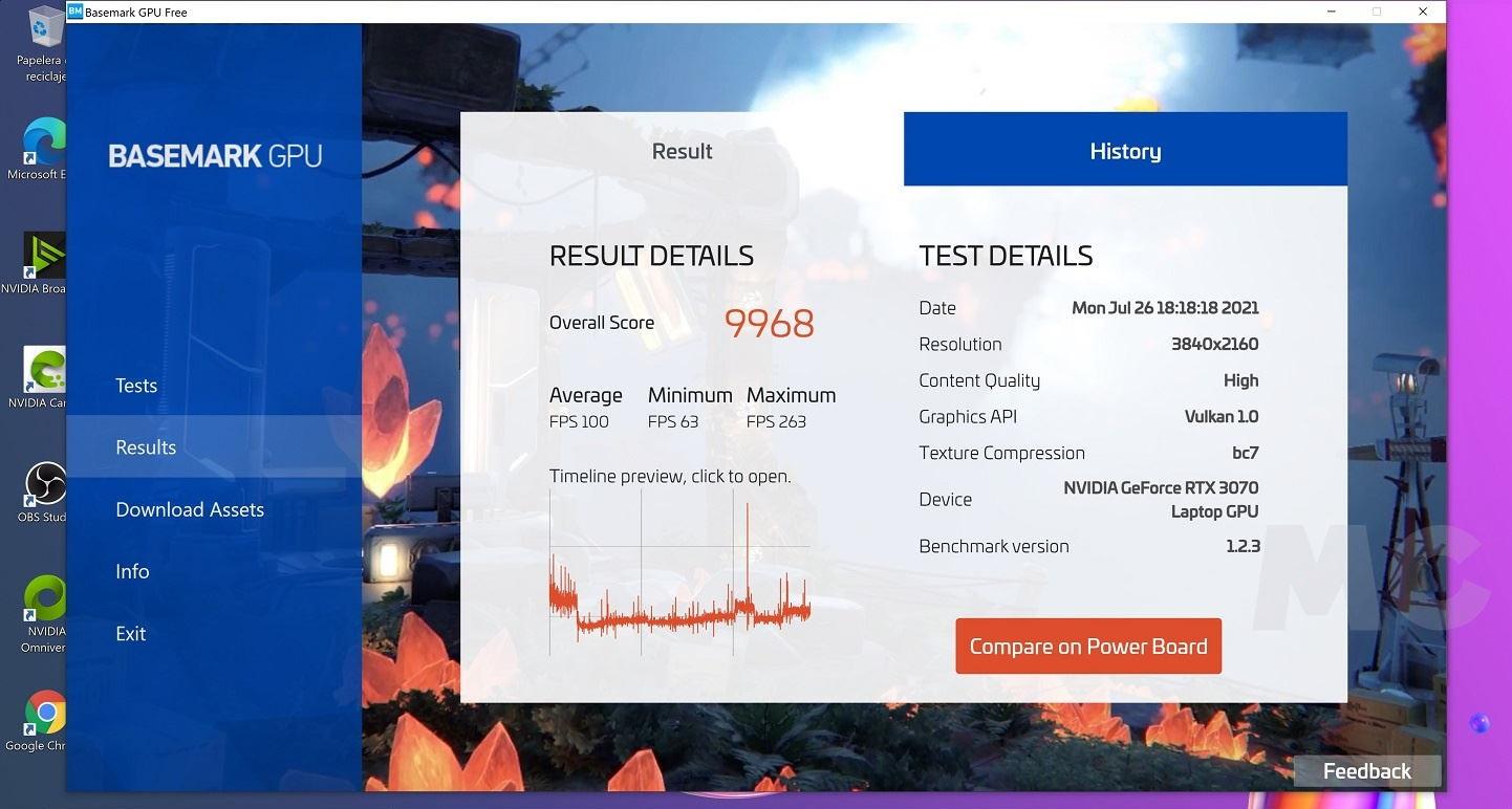 MSI Creator 15 A10UG con RTX 3070 Mobile, análisis: Toda la potencia que necesitas para trabajar, y para jugar 85