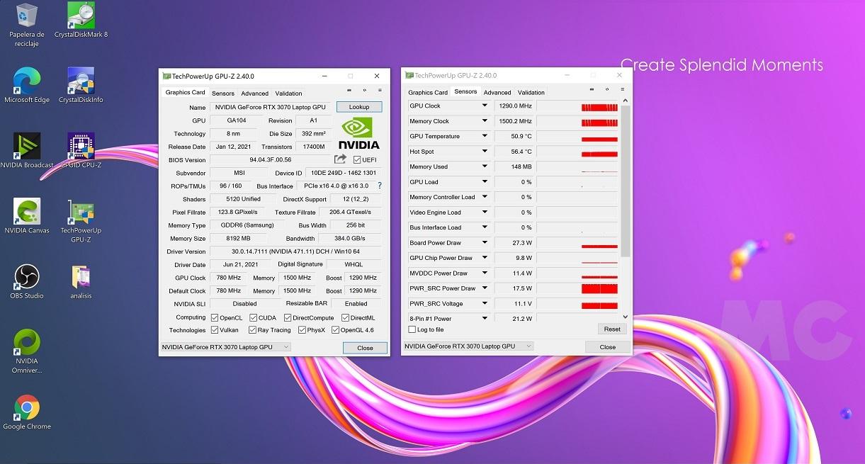 MSI Creator 15 A10UG con RTX 3070 Mobile, análisis: Toda la potencia que necesitas para trabajar, y para jugar 35