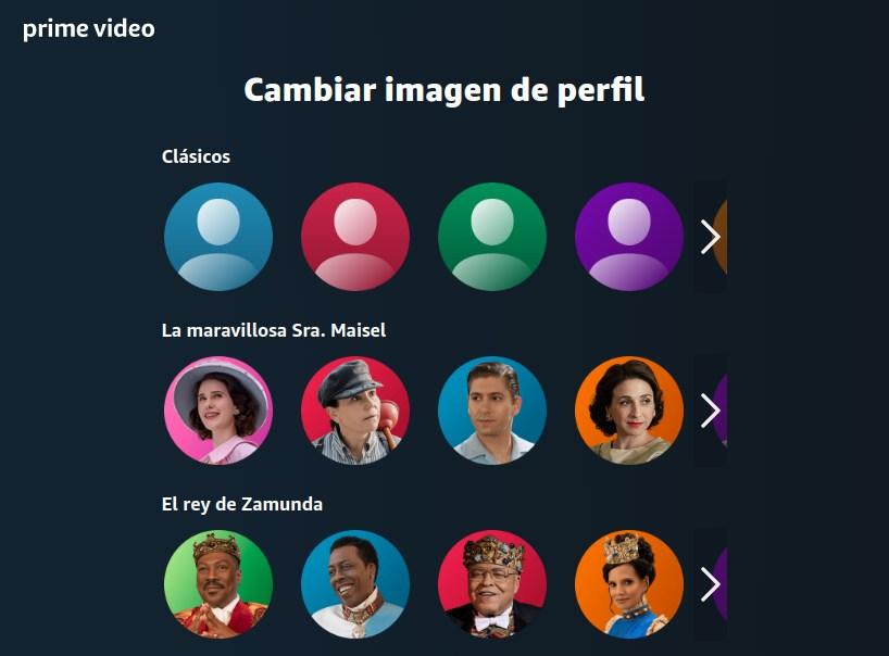 Personalización de los perfiles de usuario en Amazon Prime Video