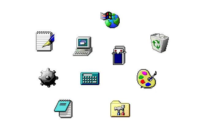 De Windows 1 a Windows 11: historia visual de sus iconos 38