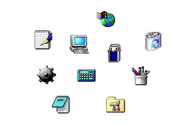 De Windows 1 a Windows 11: historia visual de sus iconos 40