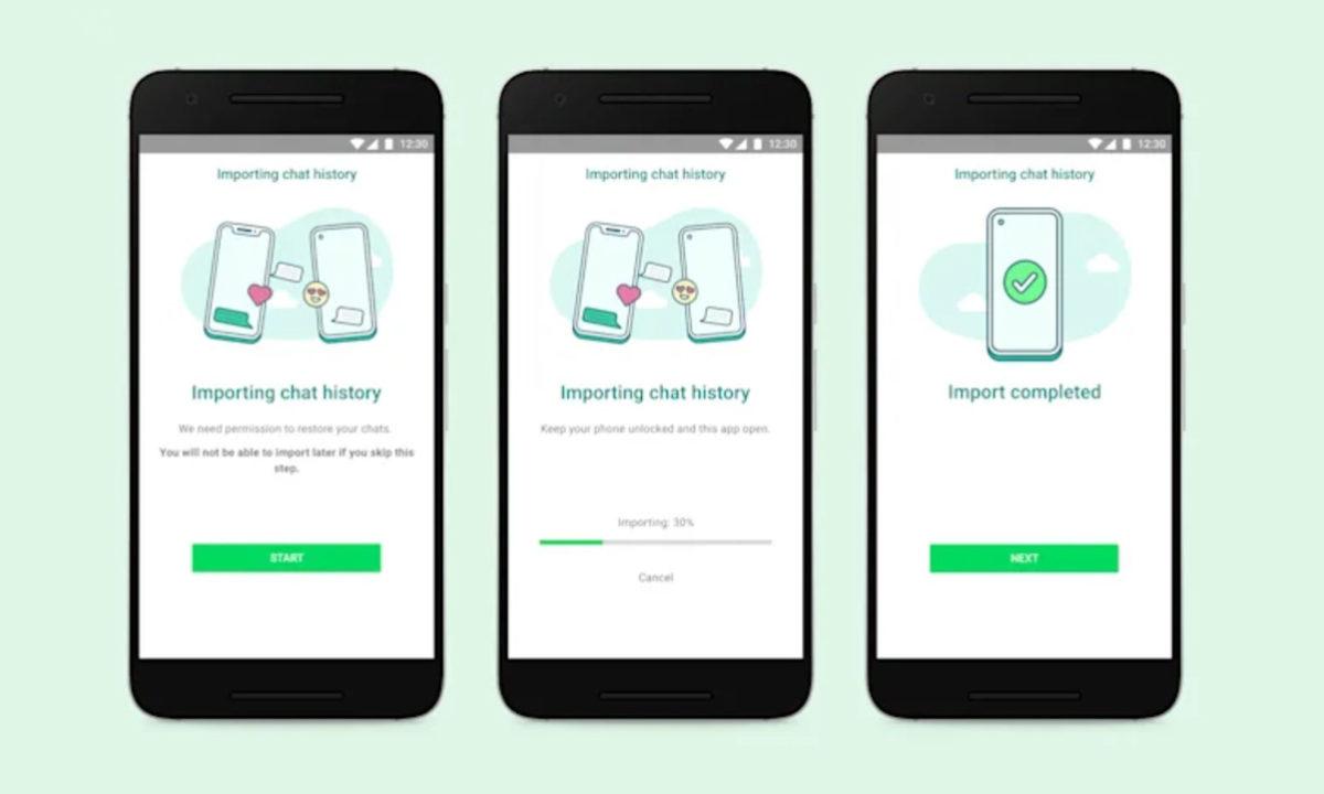 WhatsApp migrar historial de chats Android a iOS