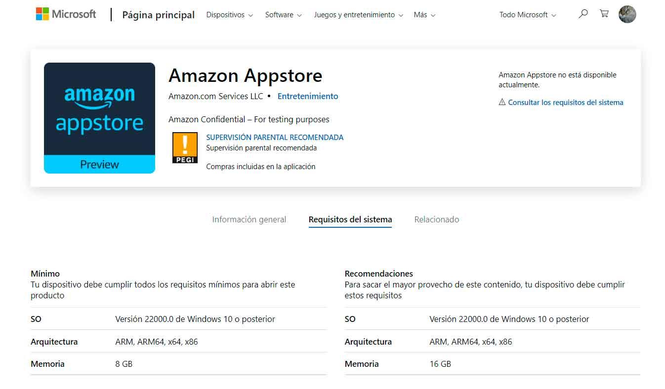 La tienda de Amazon asoma en la de Windows 11