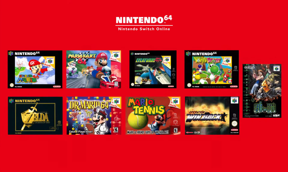 Nintendo Direct Switch Online juegos Nintendo 64