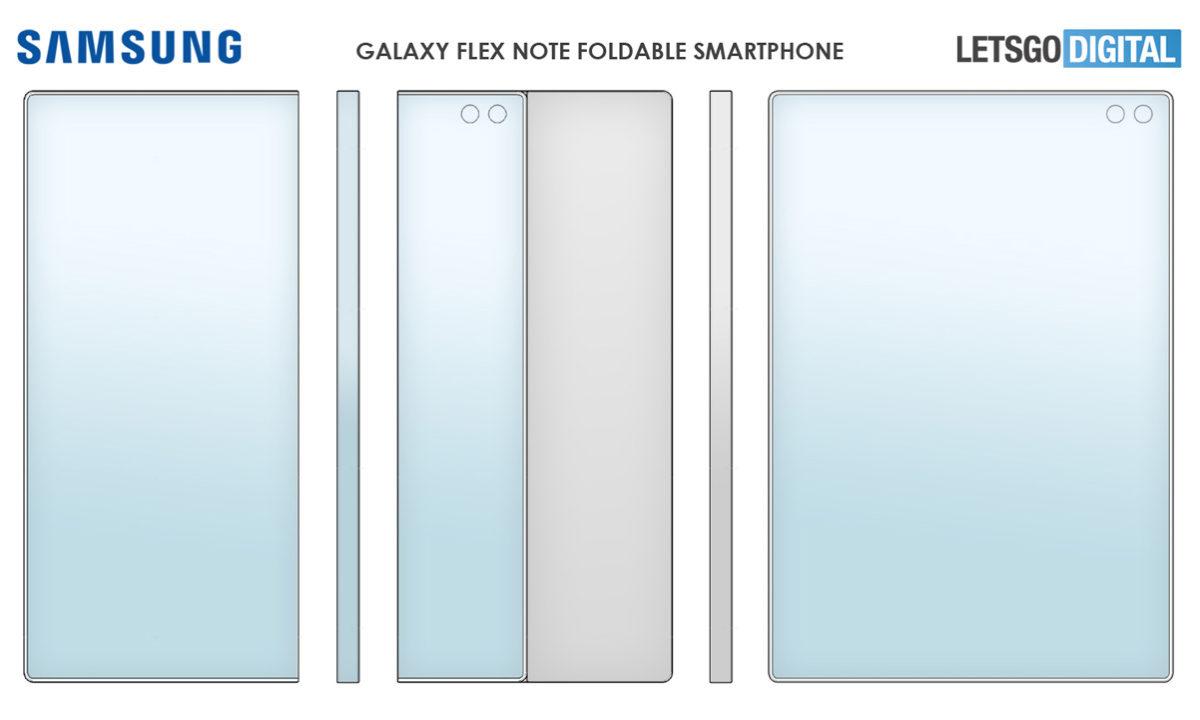 Patente Samsung Galaxy Flex Note cámaras