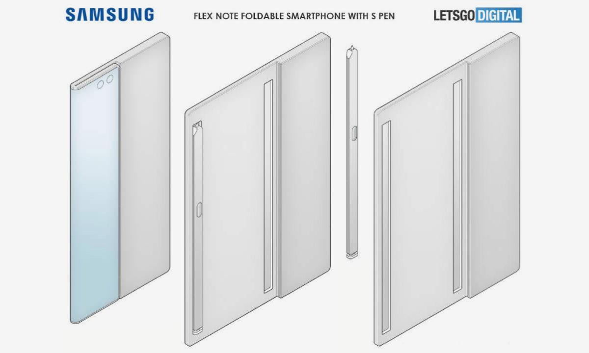 Patente Samsung Galaxy Flex Note pantalla plegable S Pen