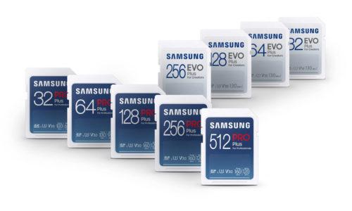Tarjetas SD Samsung EVO Plus y Samsung PRO Plus