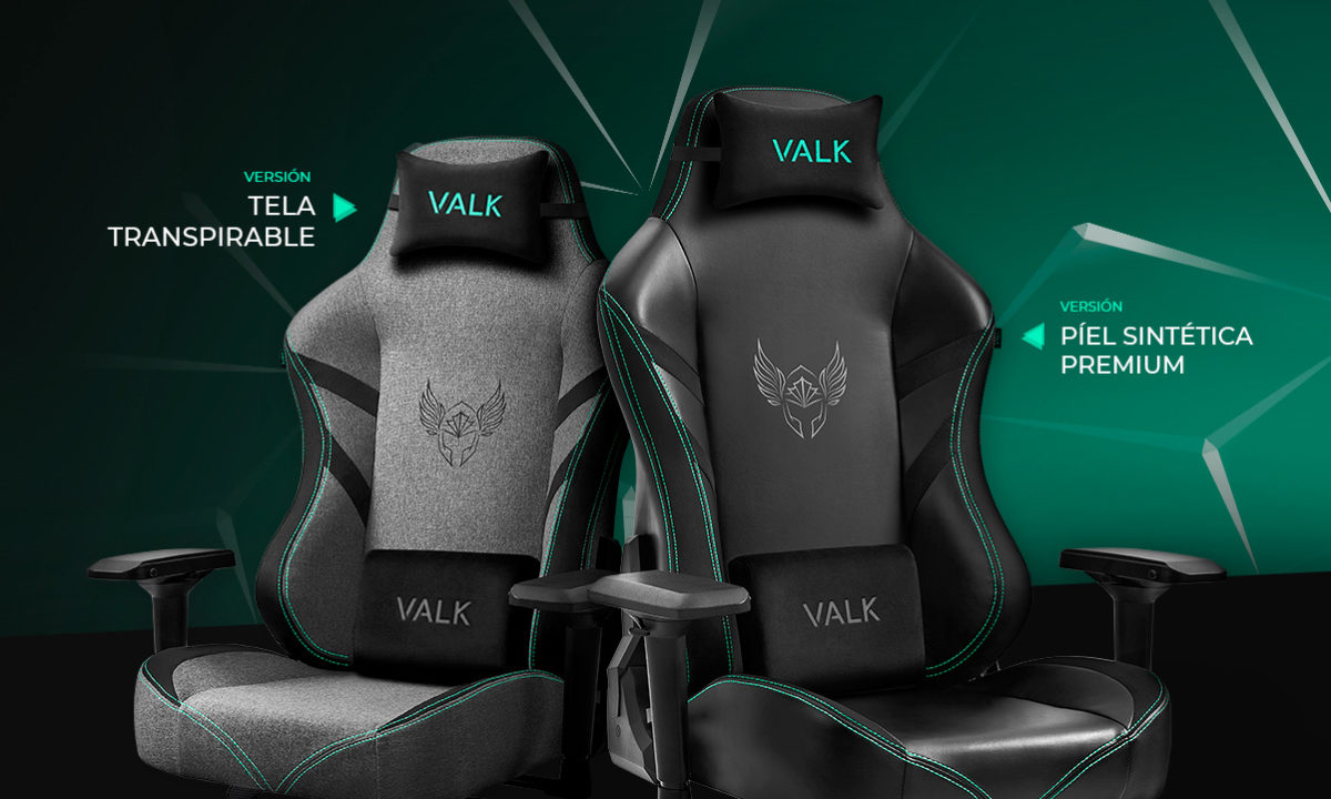 Valk Freya silla gaming tela y polipiel