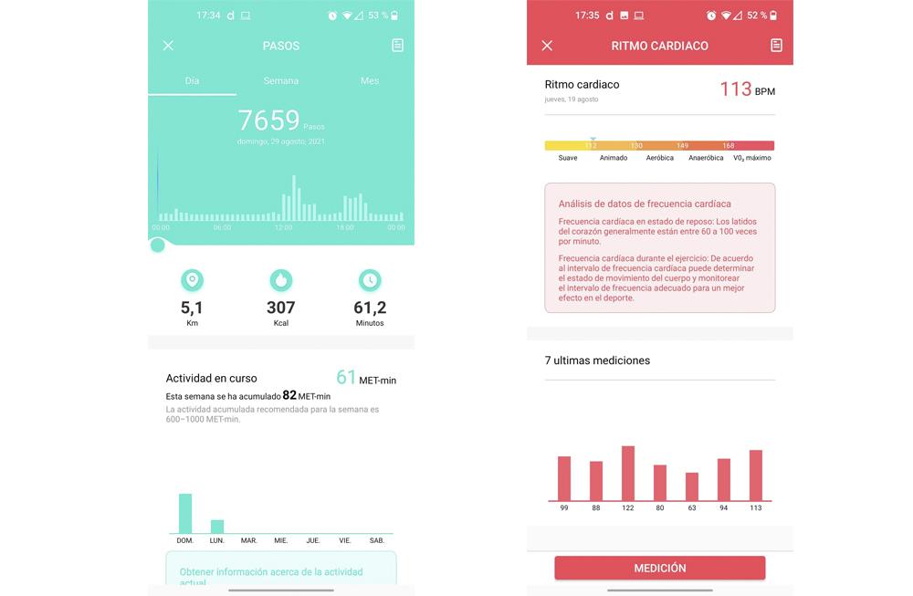 Smartwatch Radiant Las Vegas Premium y Le Baron, análisis 42