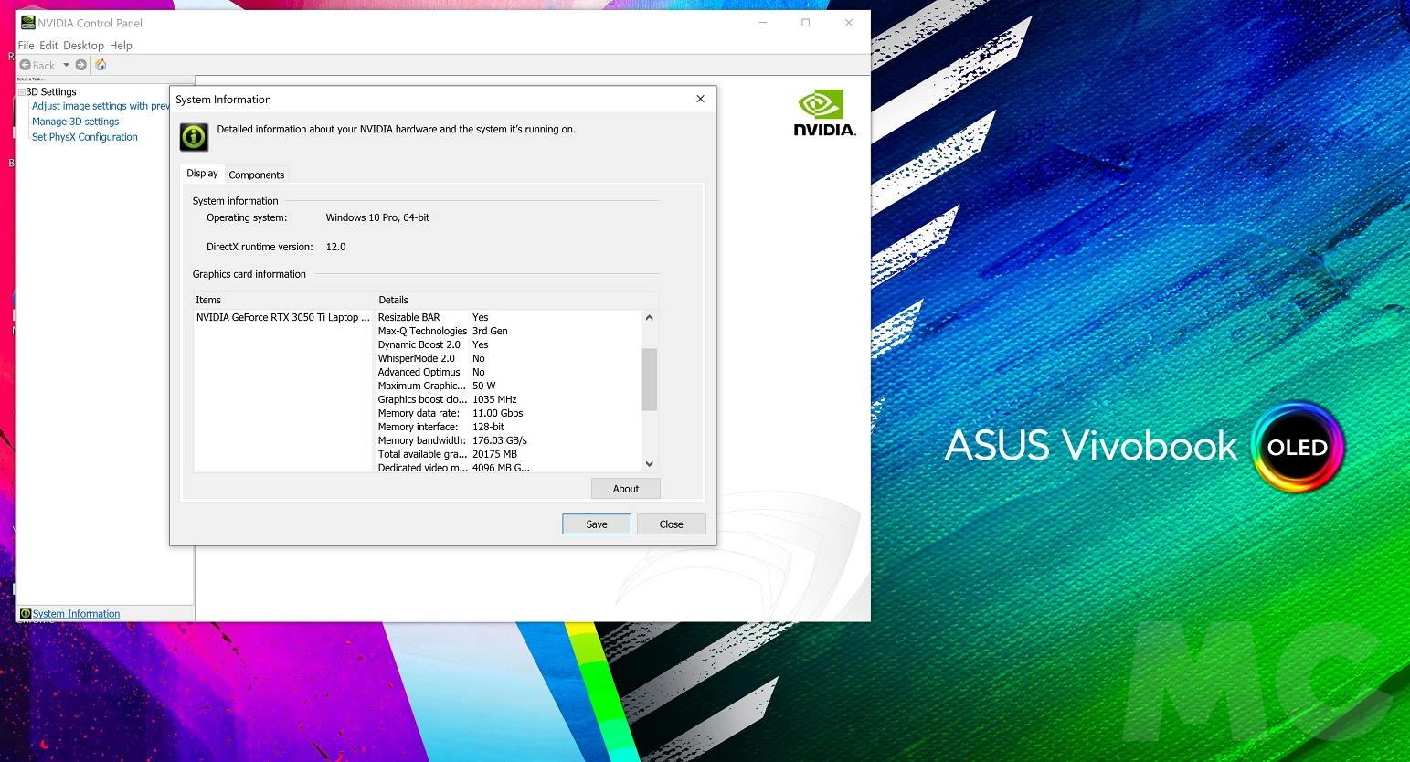 ASUS Vivobook Pro X16 3050 Ti