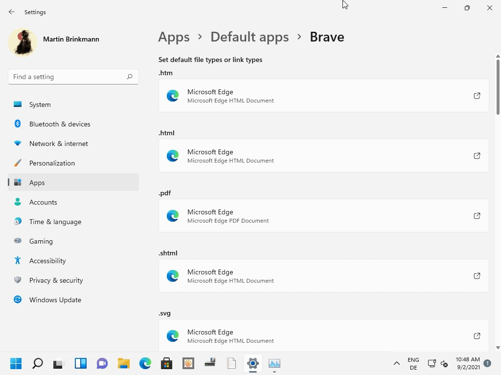 Windows 11 - Aplicaciones por defecto