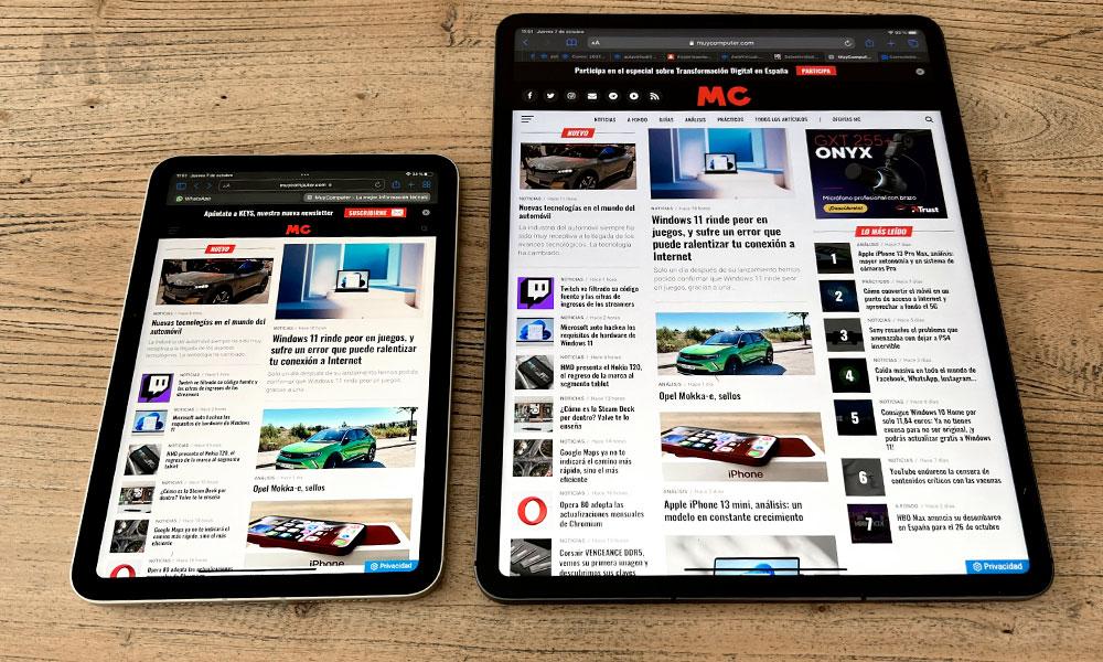 iPad mini 2021 vs iPad Pro 2021