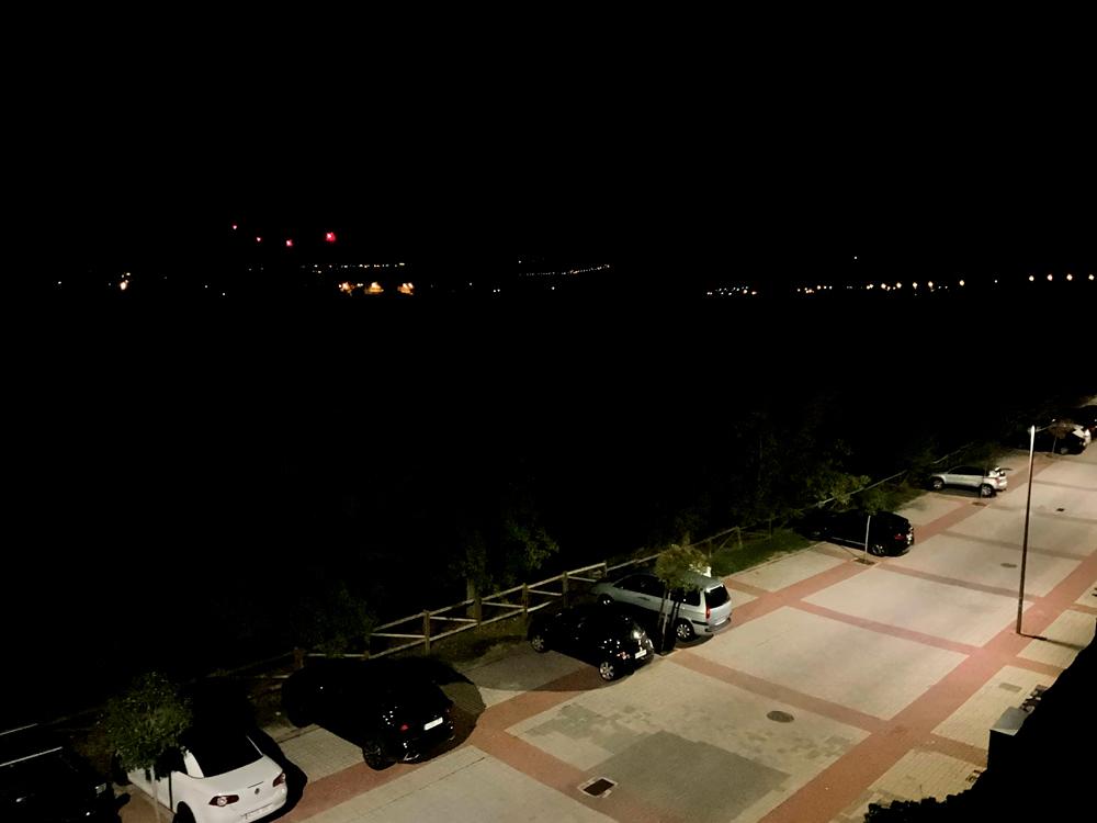 Foto de noche tomada con el iPad mini 2021.