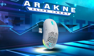 Newskill Arakne Elite Ivory ratón gaming inalambrico