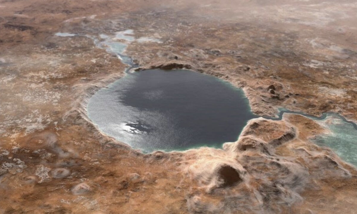 Perseverance lago marte crater Jezero