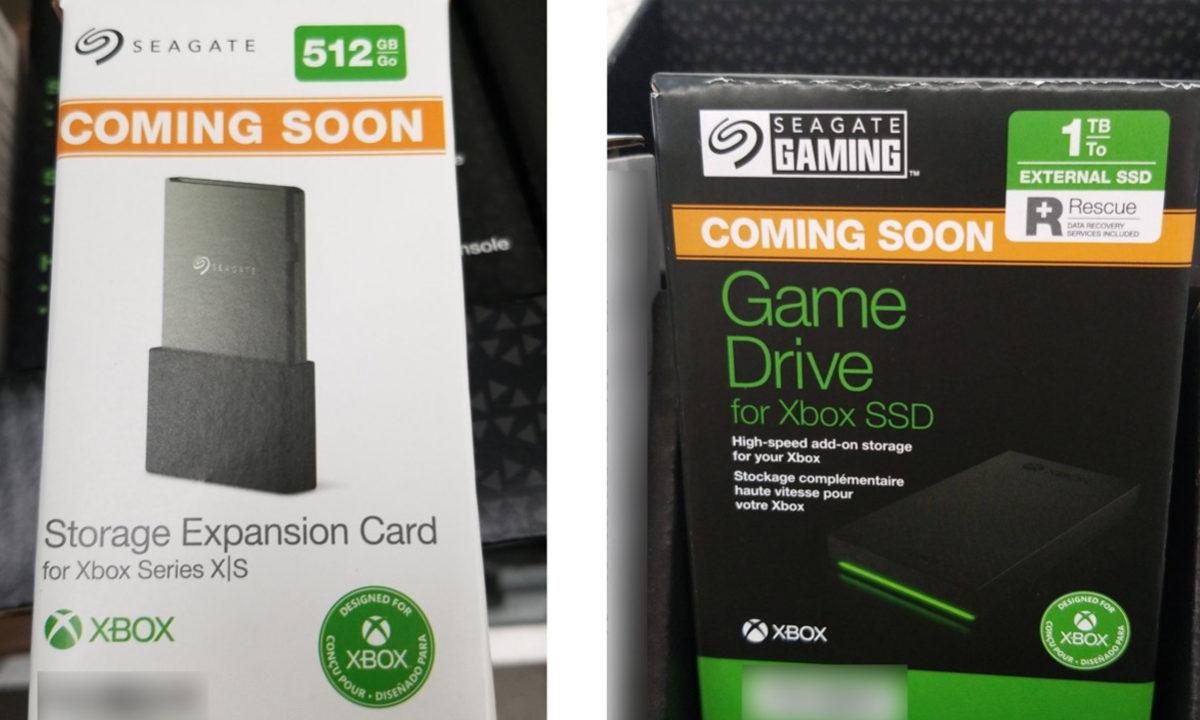Seagate Xbox Series X almacenamiento externo SSD tarjeta de expansion