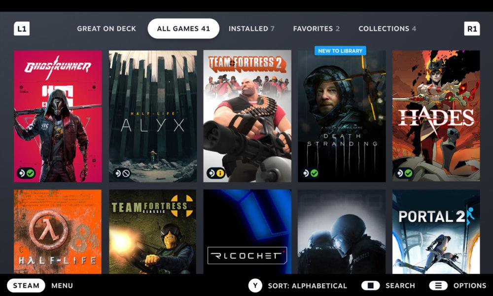 Valve ahora verifica la compatibilidad de Steam Deck con su catálogo de juegos